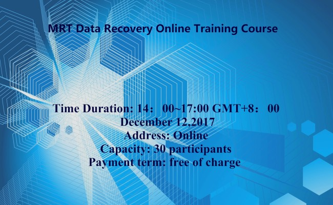 MRT Data Recovery Online Training Course