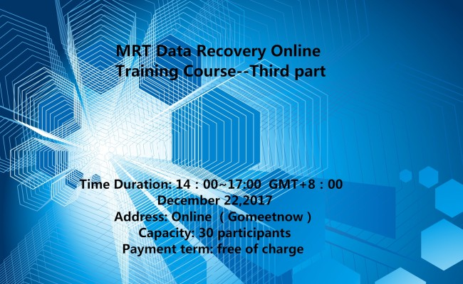 MRT  Data Recovery Online Training Course –Third Part