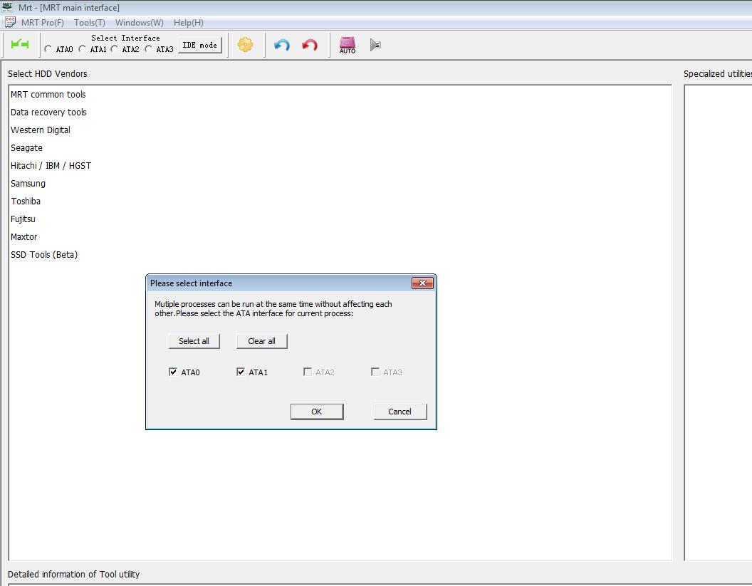 1. main interface