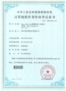 National Software Registration Certificate for Data Explorer V2.0.5.0