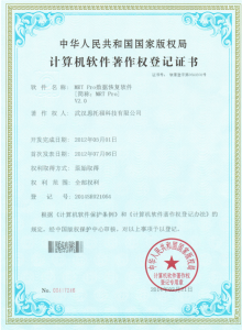 National Software Registration Certificate for MRT Pro V2.0