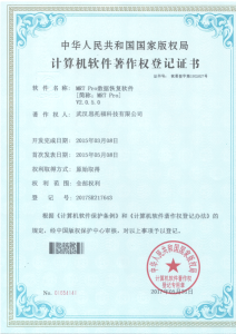 National Software Registration Certificate for MRT Pro V2.0.5.0